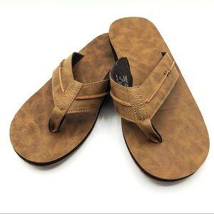 Reef mens flip flop sandals in tan / brown